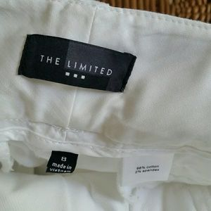The Limited Pants - The Limited White Cotton Dress Pant